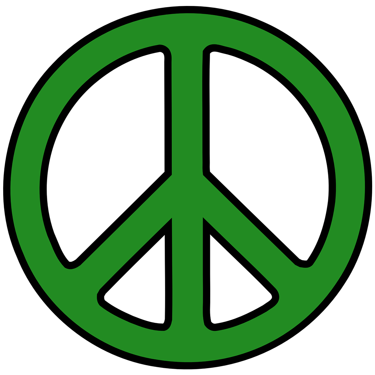 Green Peace Sign Filte...